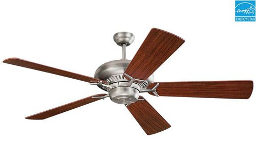 Monte Carlo Grand Prix Ceiling Fan in Brushed Steel (5GP60BS) has a 60 inch blade span with an optional light kit. Shop CeilingFan.com for the best in ceiling fans.