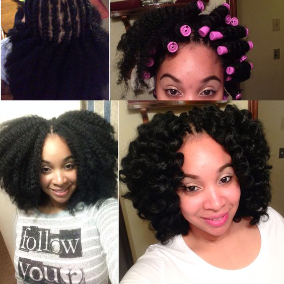 Crochet Braids Roller Set : these ideas and more crochet braids marley hair braids crochet crochet ...