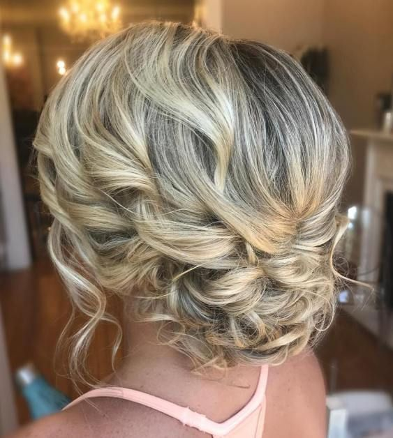 Delicate Curly Updo For Medium Hair Updos For Medium Length Hair Hair Styles Medium Length Hair Styles