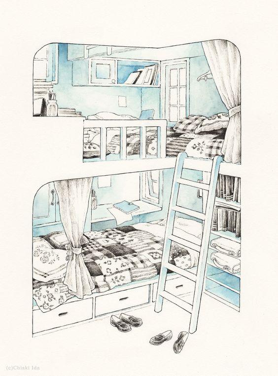 chiakiida room art illustrations aesthetic room art | soyvirgo.com