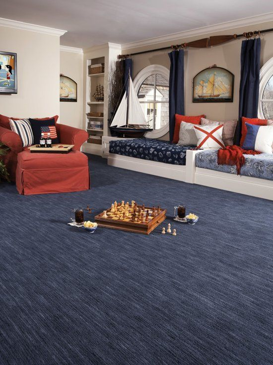 The Pattern Of This Carpet Is Unique It Makes The Room Have An Endless Feel As It Seems To Continue T Living Room Carpet Blue Carpet Bedroom Kid Room Carpet