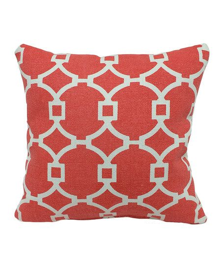 Brentwood Originals Coral Dhurrie Tiles Throw Pillow | zulily