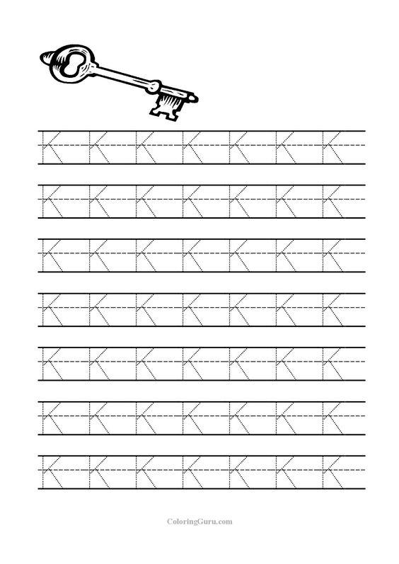 Free Printable Tracing letter K worksheets for preschool ...