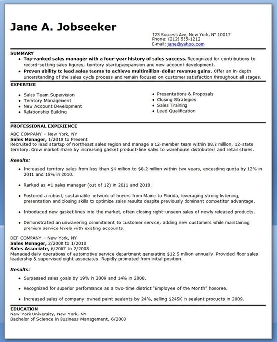 sales manager resume sample marketing work pinterest resume