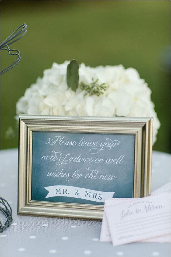please leave advice wedding sign