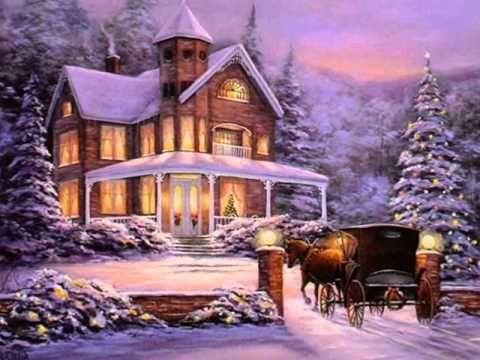 Feliz Natal So This Is Christmas Celine Dion Youtube Christmas Paintings Christmas Scenes Animated Christmas Wallpaper