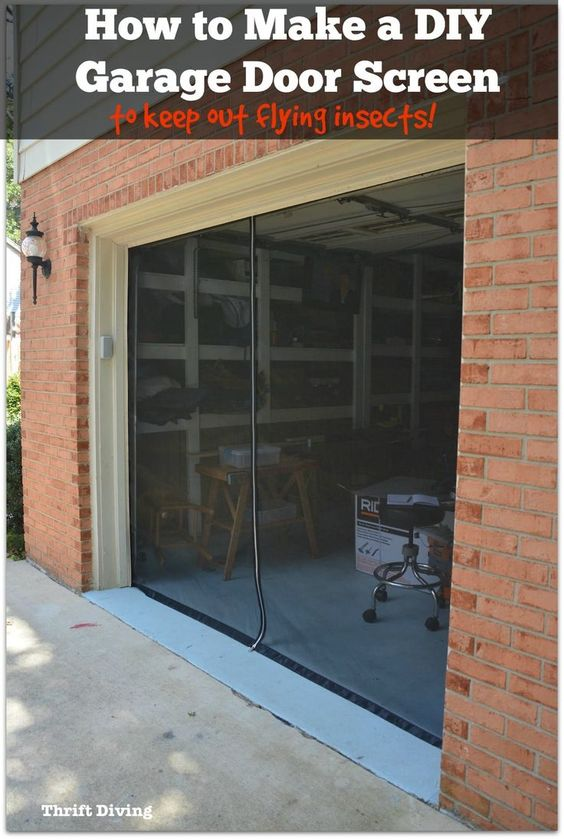 How To Make A Diy Garage Door Screen With A Zipper Garage Screen Door Diy Garage Door Diy Screen Door