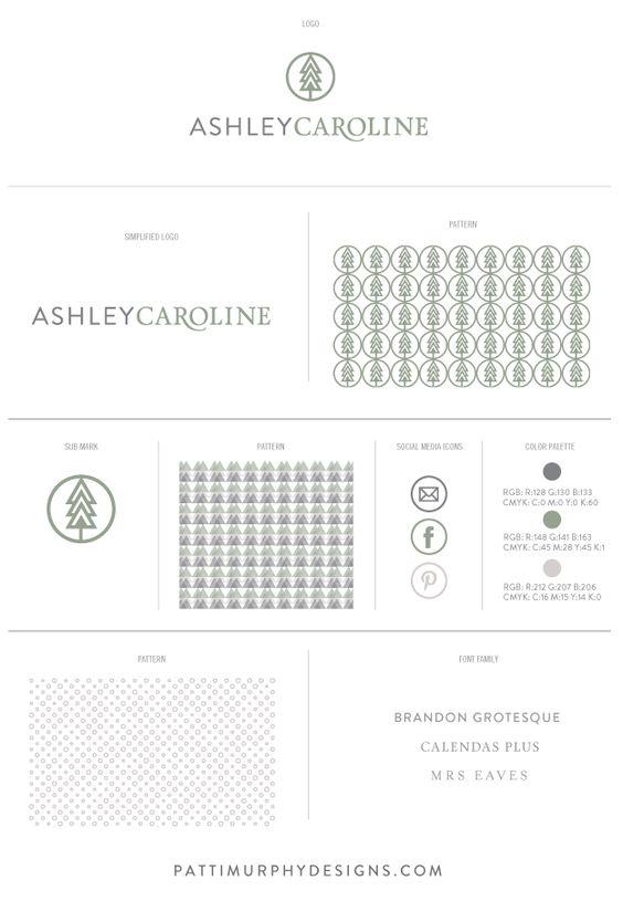 Brand Mood Board - Ashley Caroline Photography - wedding photographer - logo - logo design - branding - logo mark - nature inspired