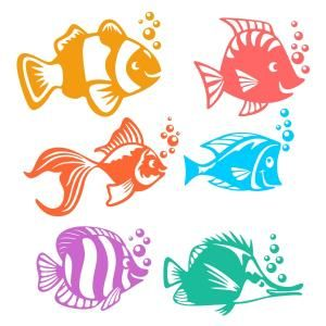 Happy Fish Cuttable Design Cut File. Vector, Clipart, Digital Scrapbooking Download, Available in JPEG, PDF, EPS, DXF and SVG. Works with Cricut, Design Space, Sure Cuts A Lot, Make the Cut!, Inkscape, CorelDraw, Adobe Illustrator, Silhouette Cameo, Brother ScanNCut and other compatible software.: