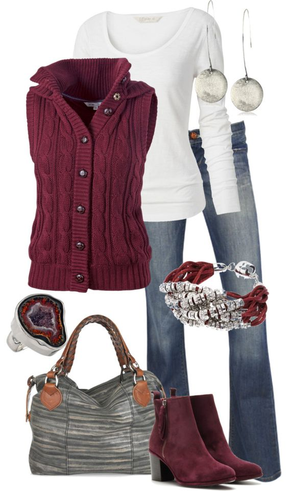Cute fall outfit! Untitled #214 by alison-louis-ellis on Polyvore    I really hate that all the adorable outfits have huge purses..not everyone likes a large bag. but oh well, i want the clothes anyway!: