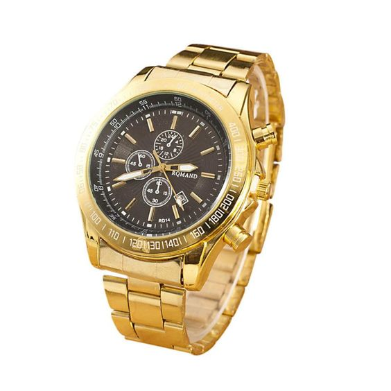 $5.03 (Buy here: http://appdeal.ru/6rta ) New Mens watches top brand luxury Clock Gold Fashion Men Quartz Watch Wrist Watch Wholesale Gold reloj mujer Lucky Free Shipping for just $5.03