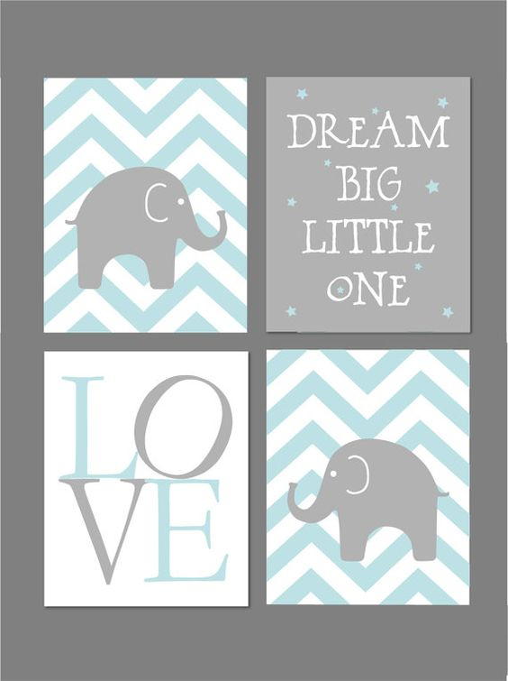 50% Off Sale Pale Blue and Grey Nursery by fairplayprintables