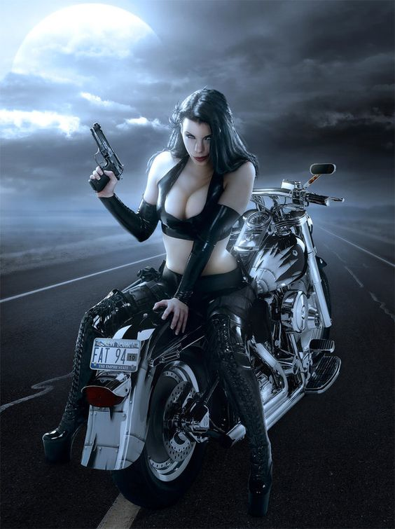 biker babes with guns