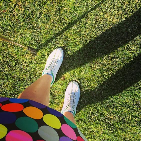 """Fashion so loud I need to shout ""Fore!"" #Golf skirt by @loudmouthgolf_hq for an amazing #summer day on the course. #golfstyle #golffashion #coursestyle #sports #fashion #ootd"""