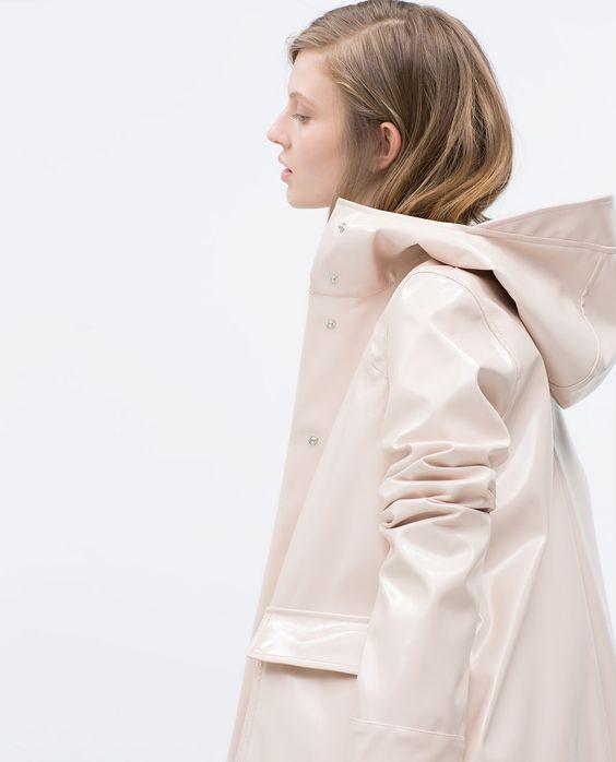 rain coats zara and style on pinterest
