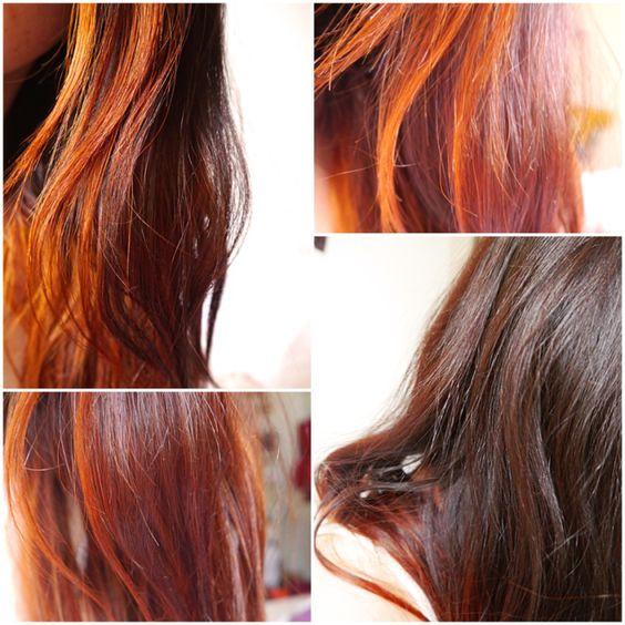 cheveux colors au henn dgypte reflets blonds vnitiens et roux cuivrs ombre - Ombr Hair Maison Sur Cheveux Colors