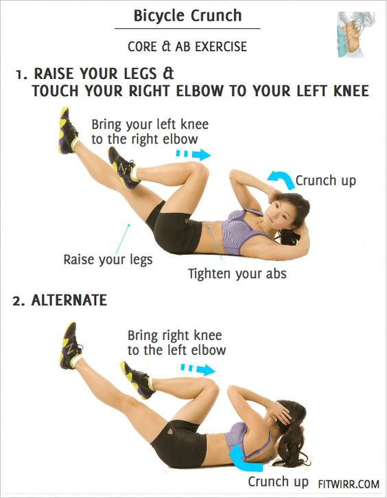 Bicycle Crunch- Best Ab Exercise Named By ACE