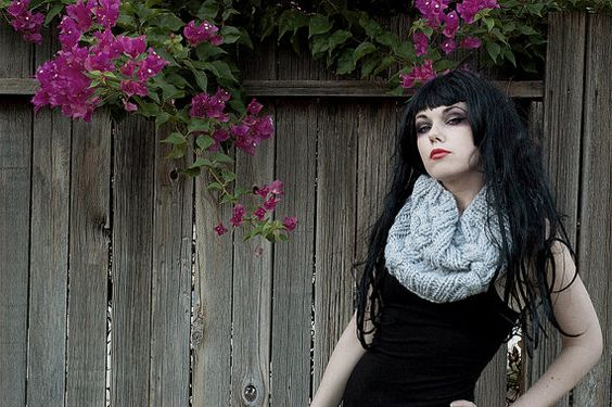 Gray Hand Knit Chunky Cable Cowl by PoemeBoheme on Etsy, $35.00