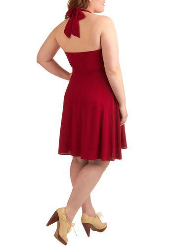 red halter dress <3