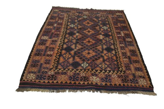Afghan Kilim Area Rug Antique Style Hand Woven Natural Wool Carpet Kelims 6'x4'  #AntiqueStyle