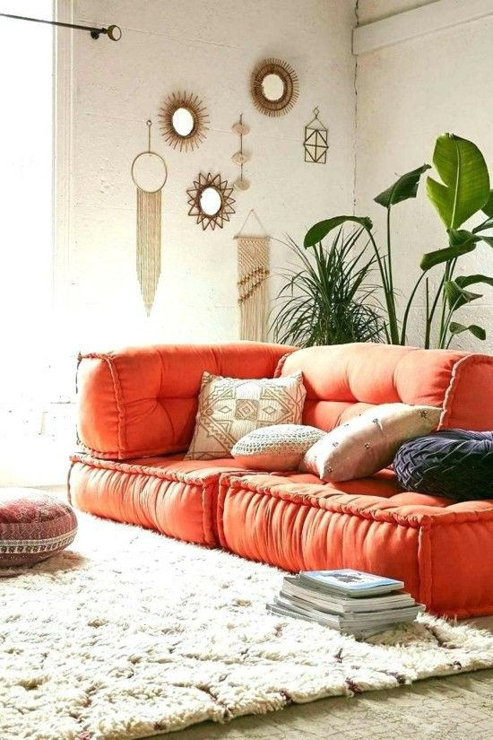 50 Bodenkissen Einrichtungsideen Zum Wohlfuhlen Bodenkissen Wohnzimmerdekoration Wohnen