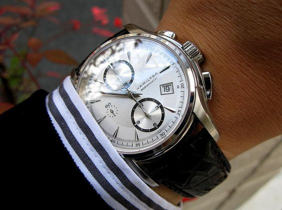 Hamilton: Jazzmaster Jazzmaster AUTO CHRONO H32616553 Wristwatch photos, videos and specifications | Watch Archive