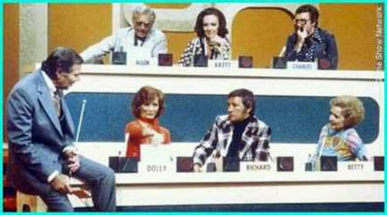 70's TV game show Match Game.  Thinking back, some of the jokes they told were pretty risqué .  I didn't get them then....: