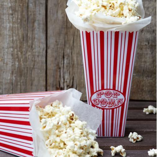 Retro Popcorn-Becher für 50er-Jahre Hochzeiten von van harte // retro popcorn paper cups for retro weddings!