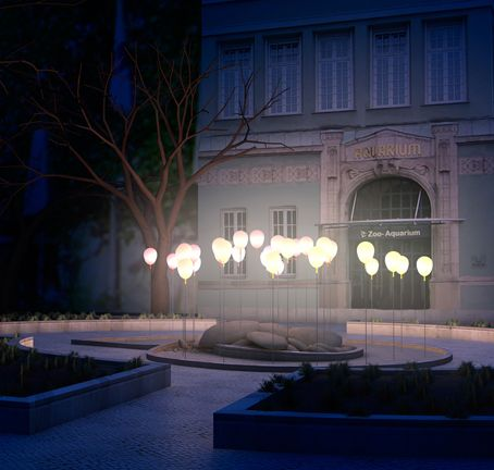 Lighted balloons, could be better configuration. Is there a hot air balloon light?