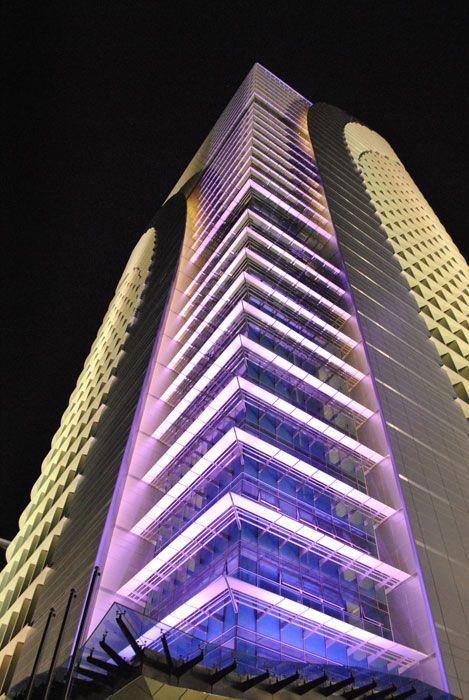architectural lighting design 4g9 office tower precinct 4 putrajaya malaysia building facade lighting