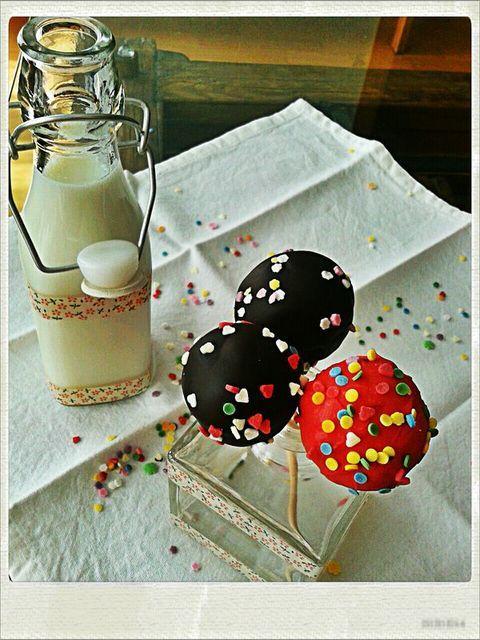 Cake pops de fresa y chocolate