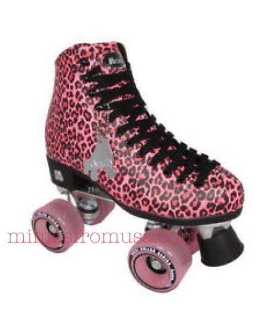 Roller skate patins oncinha pink