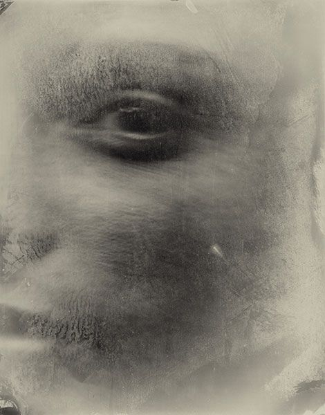 """""""...as if awakened, she turns her face to yours; and with a shock, you see yourself, tiny, inside the golden amber of her eyeballs suspended, like a prehistoric fly."""" - Rainer Maria Rilke [photo: Sally Mann]"""