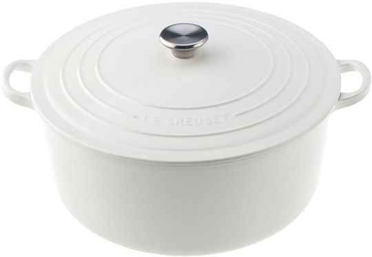 Would I dare add striking white to my flame Le Creuset collection?