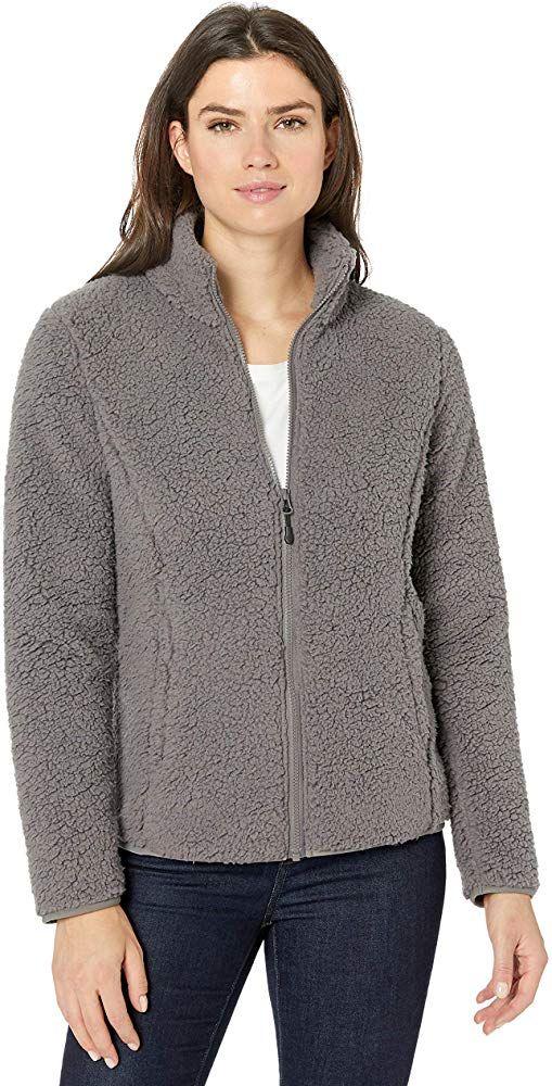 fleece-outerwear-jackets Mujer Essentials Polar Fleece Lined Sherpa Full-zip Jacket