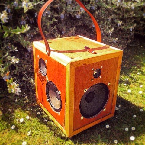 Last years tech project #speakers #tech #woodwork #party #portable de jack.v