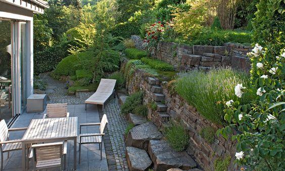 Gartengestaltung Hanglage Modern #1 hanggarten Pinterest - terrasse hanglage modern