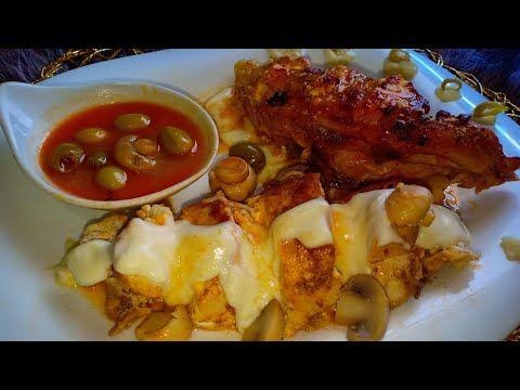 اطباق و اسرار المطاعم صدر دجاج محشي بالجبن مع صلصتين من أروع الأطباق الي حضرتهم Youtube Chicken Food Pork