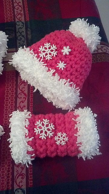 Crochet Free Pattern Muff : Snow Baby Hat & Muff pattern by Jacki Shuttleworth ...