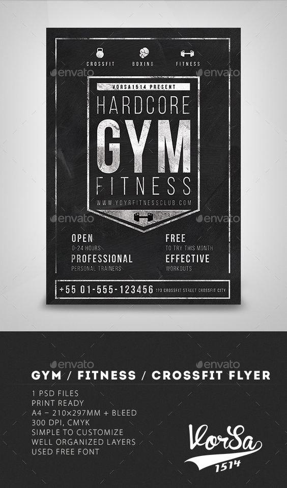 gym fitness  crossfit and flyers on pinterest