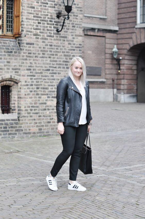 adidas superstar leather jacket