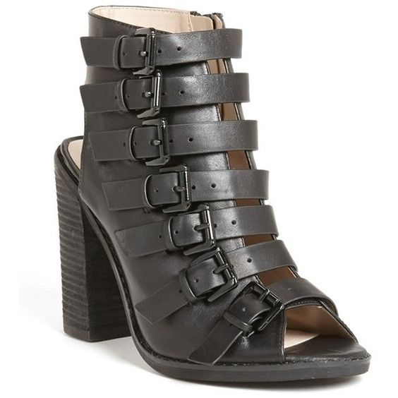 Topshop 'Ragged' Multi Buckle Bootie