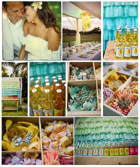 Our Theme Vintage Hawaiian Wedding Ceremony Hawaiian Reception Theme Vinta