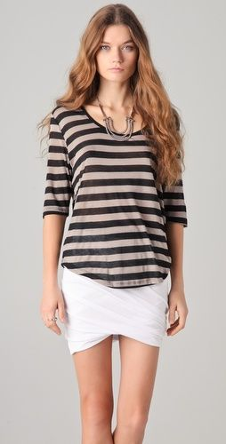 Stripes and elbow sleeves.