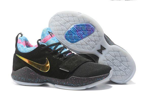 Nike Zoom PG 1 2017 2018 Daily Nike Zoom PG 1 Black Gold Basketball Shoe