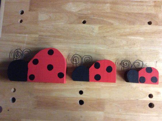 Ladybugs for my mantel. (4/11/15)