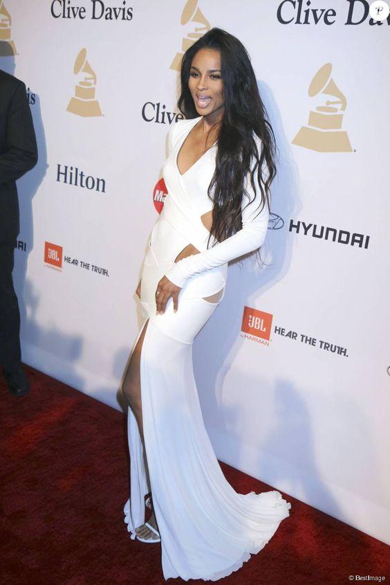 Ciara - Soirée Clive Davis Pré-Grammy à Los Angeles le 7 février 2015