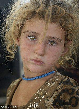 Yazidi refugee child in Zakho, Iraq...