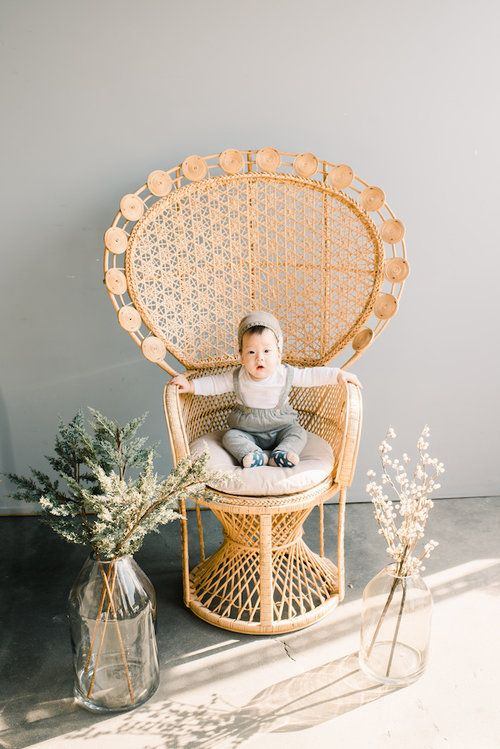 Provenance Rentals Monica Peacock Chair Vintage Rattan Wicker