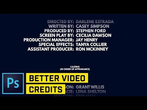 Adding Rolling End Credits To Your Film Isn T As Easy As It Seems But Here S A Tutorial That Will Walk You Through T Photoshop Photoshop Course Photoshop Text